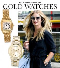 Gold Watches: The Accessory Essential You Need Now via @WhoWhatWear