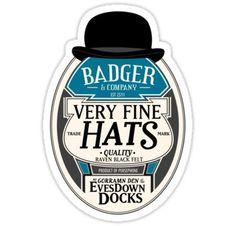 Badger's Very Fine Hats - artist Brian Girardin