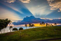 Kaka'ako Park in Honolulu, Hawaii