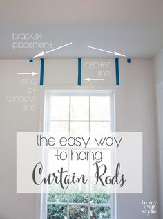 Easy Way To Hang Curtain Rods Ceiling Mount Hanging Diy