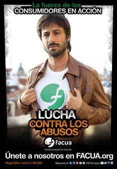 Hugo Silva, socio de FACUA nº 60.609, llama a los consumidores a la lucha contra los abusos
