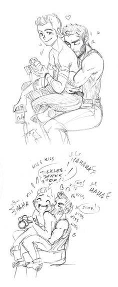 That tickles!! Sterek Marvel AU