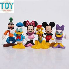 Find More Action & Toy Figures Information about New 6pcs Mickey Mouse Minnie Goofy Donald Duck Pluto Clubhouse Action Figures Playset Cartoon Figurine Cake Toppers Gift,High Quality gift figurine,China gift finder Suppliers, Cheap gift wrap a box from Toys in the Kingdom on Aliexpress.com
