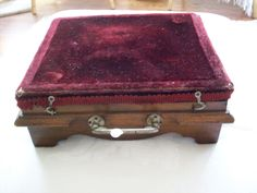 Antique victorian foot warmer mohair. $165.00, via Etsy.