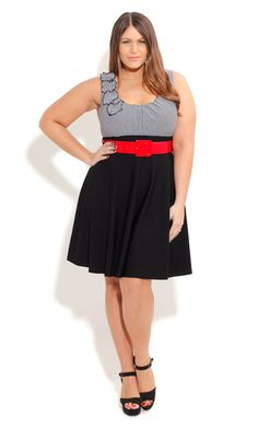Plus Size Tiered Hi Lo Maxi Skirt - City Chic - City Chic