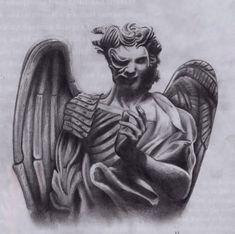 Angel And Demon Tattoos Design