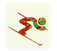 Pictogram Alpine Skiing (Kelly, Chad and Joe's favorite winter event) – Sochi 2014