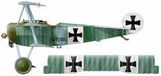 Fokker F.I (Dr.I) Unit: JG I Serial: F.I.102/17 Pilots - Ritt Manfred von Richthofen (JG I, August-September) and oblt Kurt Wolff (Jasta 11,...