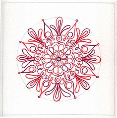 How to Draw a Mandala (and a link to download free polar graph paper)
