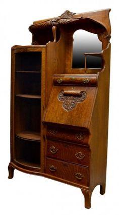 American oak side by side secretary, Rockford Chair & Furniture Company, Illinois, c. 1900