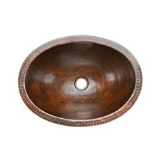 Premier Copper Products Under-Counter Oval Hammered Copper Bathroom Sink in Oil Rubbed Bronze