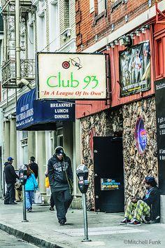 Club 93 Dive Bar In Tenderloin, San Francisco By Mitchell Funk  mitchellfunk.com