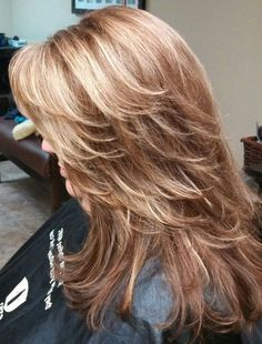 layered hair Best Ideas About Stylish Layered Hairstyles in 2020 : Page 21 of 35 : Creative Vision Design Long Layered Haircuts, Haircuts For Long Hair, Long Hair Cuts, Medium Layered Hairstyles, Long Shag Hairstyles, Feathered Hairstyles, Choppy Layers For Long Hair, Long Layered Cuts, Layered Bobs