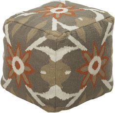 Surya POUF-33 Indoor Pouf from the Surya Poufs collection Olive Home Decor Pillows Poufs