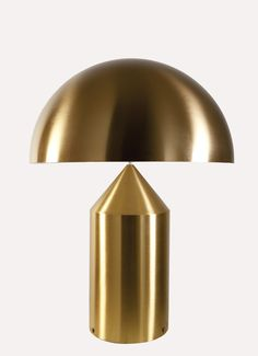 Atollo gold table lamp in lacquered gold aluminium Vico Magistretti for Oluce