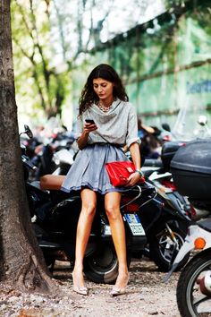 Giovanna Battaglia, Milano « The Sartorialist The Sartorialist, Giovanna Battaglia, Vogue Fashion, Look Fashion, Womens Fashion, Milan Fashion, Street Fashion, Looks Street Style, Mode Chic