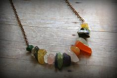 Yummy Nuggets  Mixed Gemstone Necklace by AllowingArtDesigns