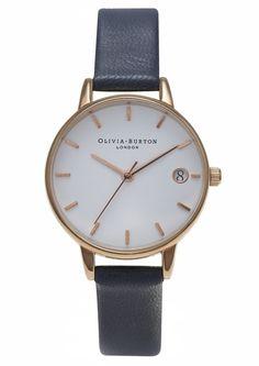 Olivia Burton  The Dandy  30mm leather strap watch ( 125) ❤ liked on ec5c55fc7c