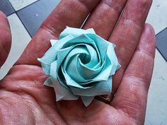 modern rose- Origami Naomiki Sato Pentagon Rose   Flickr - Photo Sharing!