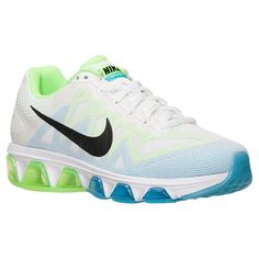 Women's Nike Air Max Tailwind 7 Running Shoes - 683635 104 | Finish Line | White/Clearwater/Flash Lime