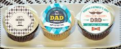 Father's Day cupcake cookie toppers15 edible rice by ohSEWcuddly