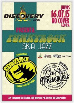 """Cresta Metálica Producciones » Discovery Bar presenta: """"Godzuki y Ska Jazz Messengers"""" (Caracas) // 16 Julio 2015"""