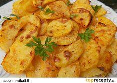Turecké jogurtové brambory recept - TopRecepty.cz Zucchini, Shrimp, Meat, Chicken, Dinner, Vegetables, Food, Dining, Food Dinners