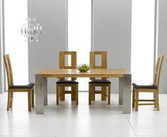 7ab5db92ff93 Buy Mark Harris Knightsbridge Oak Extending Dining Set with 4 John Louis  Brown Dining Chairs Online - CFS UK. Furniture Today