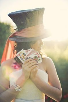Alice In Wonderland Themed Hat & Cards