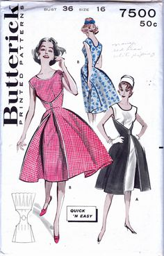 60s Walk Away Dress pattern Butterick 7500 by allthepreciousthings
