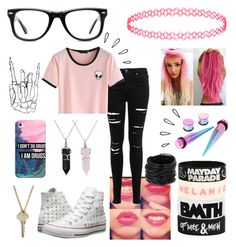 """Untitled #35"" by fangirl-trash ❤ liked on Polyvore featuring Converse, Muse, Miss Selfridge, Casetify, Bling Jewelry, Saachi, Old Navy and The Giving Keys"