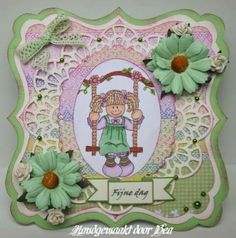 Girl Swinging, Handmade Cards, Paper Crafts, Tags, Sweet, Design, Products, Tissue Paper Crafts, Card Making