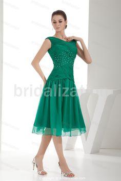 Mother of the Bride Dresses Tea Length | Criss-Cross Tea-Length A-Line Mother of the Bride Dress 002