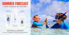 Amazing, chemical free products for your Summer Forecast! LOVE these for my kiddos so I can avoid slathering them with chemicals in conventional products!! learn more so you can save your cuties from chemicals too! :)