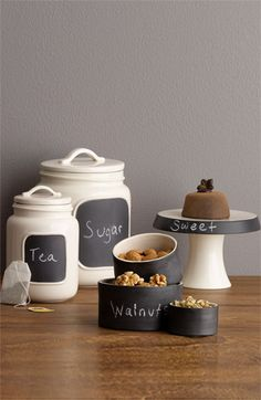 So cute! Rae Dunn by Magenta Chalkboard Kitchen Collection  #Nordstrom