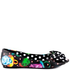 Iron Fist Women's Ring Pop Peep toe Flat