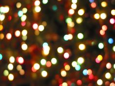 Christmas tree bokeh.