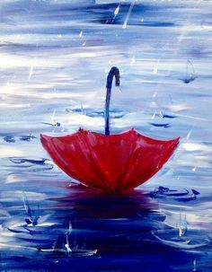 We organize painting events in local bars. We organize painting events in local bars. Come to a paint nite party!Date night painting idea Acrylic Painting For Beginners, Easy Canvas Painting, Simple Acrylic Paintings, Beginner Painting, Diy Canvas, Painting & Drawing, Canvas Art, Rain Painting, Canvas Paintings