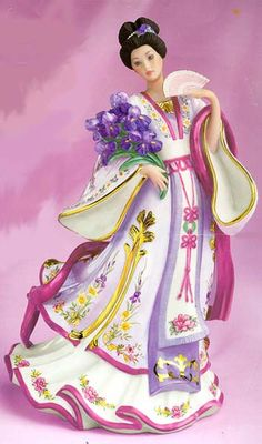 'Iris Princess' Porcelain by Lena Liu