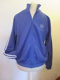 Fred Perry Hipster Twin Tape Track Jacket Blue w/White stripe Size M Style J1321 #FredPerry #CoatsJackets