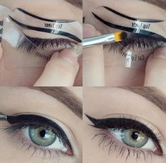 Mondays are for cat eyes Picture by the fab @iheartmakeupart  stencil: www.bethbenderbeauty.com #bethbenderbeauty