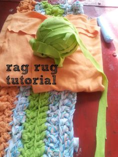 Rag Rug Crochet Tutorial - cut fabric strips continuously back and forth to get the longest strips possible