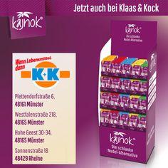 Sie bekommen kajnok auch bei K+K Klaas & Kock in Rheine und Münster. Personal Care, Alternative, Noodle, Slim, Foods, Germany, Personal Hygiene