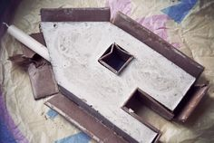 Rotkehlchen: DIY: Little Candleholder Houses // Concrete!