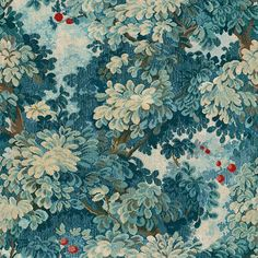 Tree Wallpaper, Wallpaper Samples, Wallpaper Online, Fabric London, Tapestry Fabric, Vinyl Paper, Tree Leaves, Designer Wallpaper, French Antiques