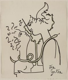 jean cocteau -The Man in the Mirror (1959) - hyperallergic.com
