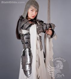 """Larp Medieval Fantasy cuirass """"Brave Angel"""" steel female armor: full cuirass (front and back) by FlambergArt on Etsy https://www.etsy.com/listing/207235615/larp-medieval-fantasy-cuirass-brave"""