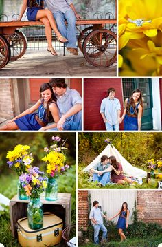 Becca & Hunter's engagement - cute country engagement pictures with diy items