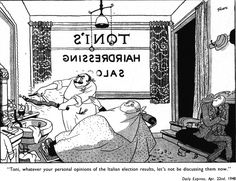 Election Cartoon by Giles April 22nd 1948