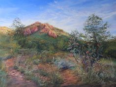 "For Sale: High Desert Summer Splendor enhanced PRINT 1/1 9x12  by Lindy Cook Severns | $100 | 12""w 9""h | Original Art | https://www.vangoart.co/lindycseverns/high-desert-summer-splendor-enhanced-print-1-1-9x12"